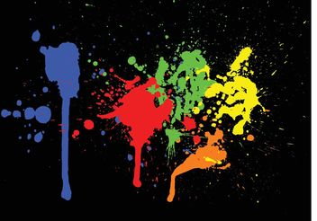 Color Paint Splashes - vector gratuit #160657