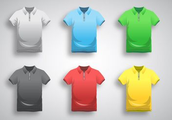 Polo Shirt Template Vector - vector gratuit #160897