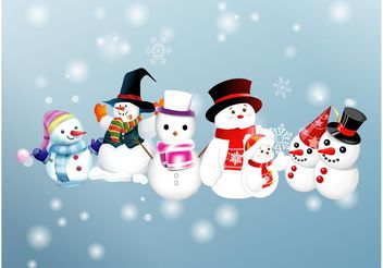 Snowman Vectors - Free vector #160987
