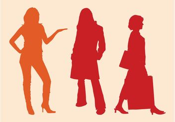 Free Women Silhouettes - Free vector #161047