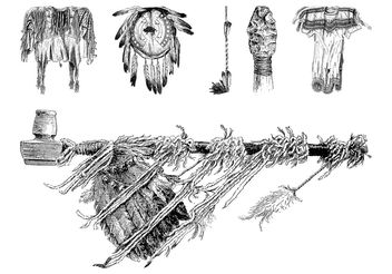 Native American Objects - vector gratuit #161057