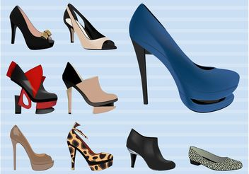 Trendy Shoes - vector gratuit #161177