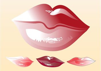 Lips Vectors - Kostenloses vector #161187