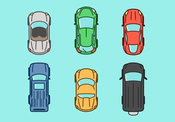 Aerial View Vector Car Icons - Free vector #161267