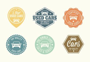 Free Used Car Vector Badges - бесплатный vector #161277