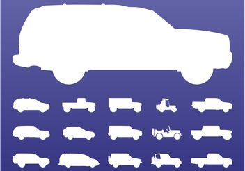 Off-Road Cars Set - Free vector #161287