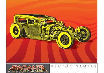 Hotrod Car Vector - Free vector #161347