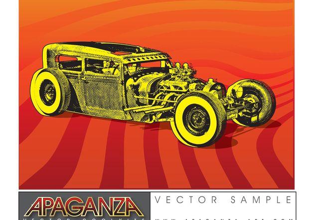 Hotrod Car Vector - бесплатный vector #161347