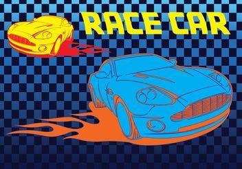 Free Race Car Vector - vector gratuit #161387