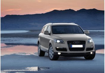 Audi Q7 SUV Wallpaper - Free vector #161467