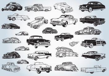 Vintage Cars Vectors - Free vector #161517