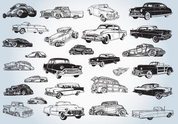Vintage Cars Vectors - vector #161517 gratis
