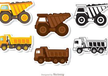 Dump Truck Vectors Pack - Free vector #161657