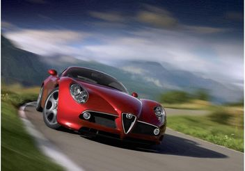 Fast Alfa Romeo Spider - бесплатный vector #161677