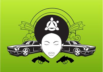 Girl And Cars - vector gratuit #161717