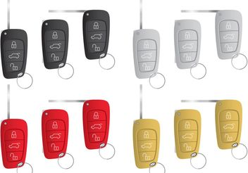 Car Key Vectors - vector #161817 gratis