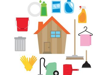Clean House Vector - бесплатный vector #161857