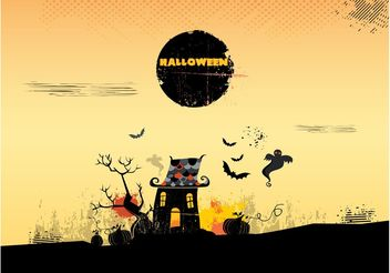 Halloween House - Free vector #161897
