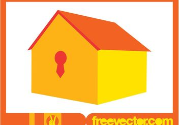3D House Icon - Free vector #161917