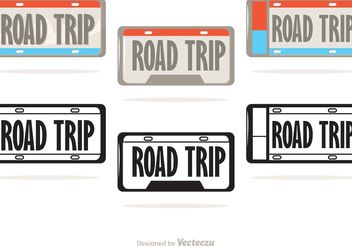 License Plate Vectors - vector #162047 gratis
