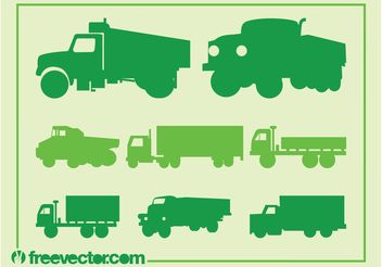 Trucks Silhouette Set - Free vector #162087