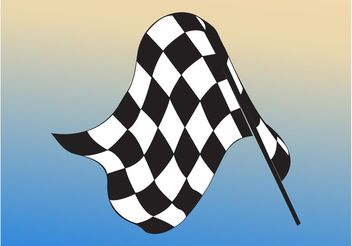 Checkered Flag - Free vector #162127