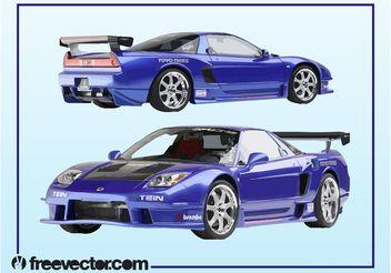 Acura Race Car - бесплатный vector #162157