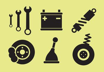 Car Parts Vectors - vector gratuit #162197