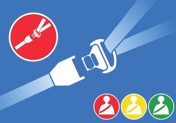 Seat Belt Vectors - vector #162257 gratis