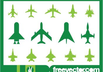 Military Planes Icons - vector gratuit #162377