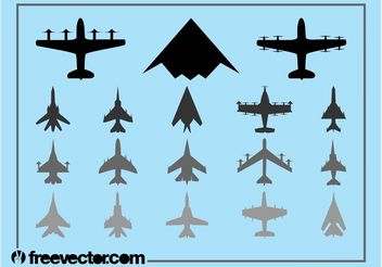Military Airplanes Set - vector gratuit #162397