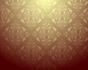 Damask Ornate Seamless Pattern - vector #162607 gratis