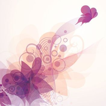 Flouring Swirls Butterfly Abstract Background - Free vector #162617