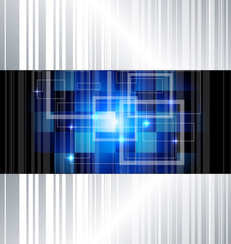 High Tech Squares Lines Background - vector gratuit #162627