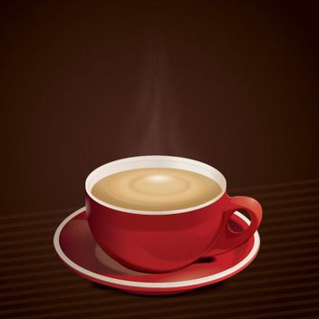 Hot Coffee Cup Background - vector gratuit(e) #162677