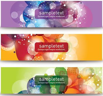 Colorful Bubbles Banner Set - vector gratuit #162687