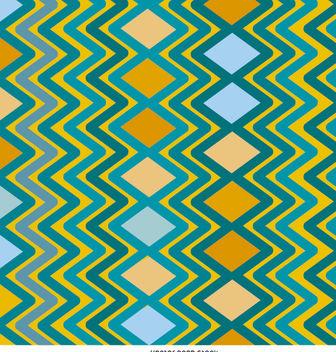 Rhombus zig zag pattern - vector #162697 gratis