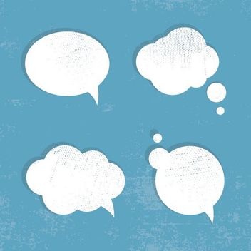 Cloudy Grunge Speech Bubble Set - Kostenloses vector #162737