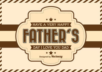 Father's Day Vintage Greeting Card - Free vector #162747