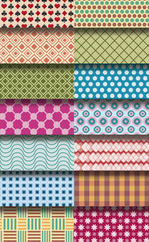 14 pattern figure backgrounds - Free vector #162877