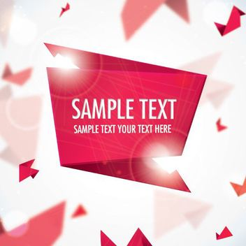 Origami Banner Shiny Background - Free vector #162887