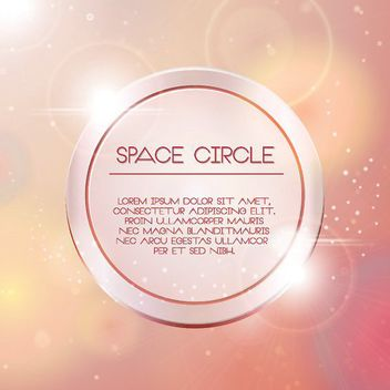 Space Circle Bright Background - vector gratuit #162937