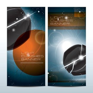 Light Clashes Science Fiction Banners - бесплатный vector #162967