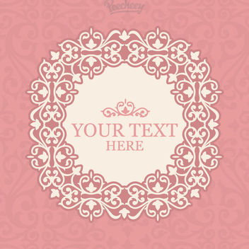 Vintage Pink Floral Frame Invitation - Free vector #163017