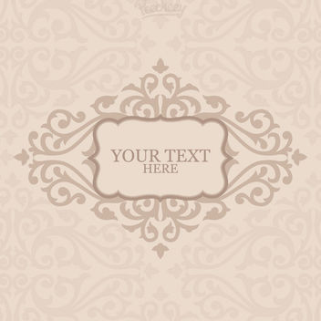 Floral Ornamented Greeting Card - vector gratuit(e) #163027