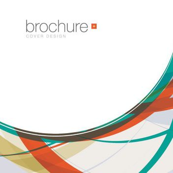 Colorful Curvy Waves Abstract Brochure - Free vector #163037