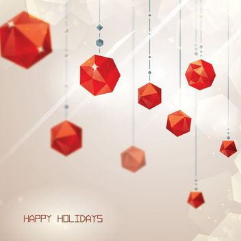 Hanging Polygonal Cubist Decoration Background - Free vector #163237