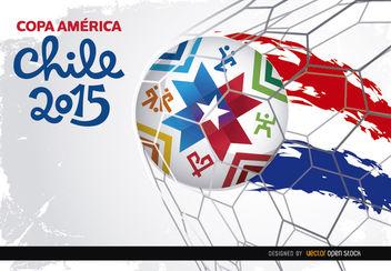 Copa America Chile goal net - Free vector #163437