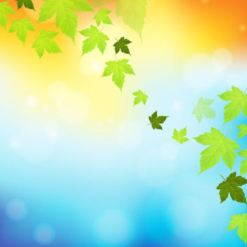 Falling Maple Leaves Colorful Background - Free vector #163517