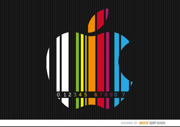Apple colorful codebar - Kostenloses vector #163557